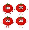 set with cartoon tomato vector image
