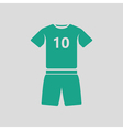 Soccer uniform icon vector image