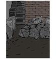 Back Street Alley Scene vector image vector image