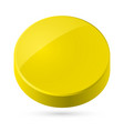 yellow disk isolated on white background vector image