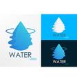 Logo water half wave vector image
