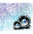 underwater music background vector image
