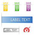 labels and stickers vector image