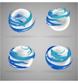 sphere water vector image