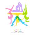 Women doing yoga asanas vector image vector image
