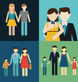 Family flat style people figures parenting parents vector image