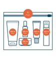 liquids in carry-on baggage vector image