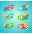 Collection of soccer cup badges vector image