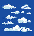 cartoon clouds against blue sky vector image