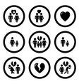 family situation symbols vector image
