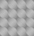 Gray ornament diagonal dotted bulging waves vector image