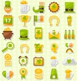 Modern Flat Design Icons for Saint Patrick Day vector image