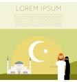 Muslim flat banner3 vector image