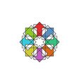 Tech colorful arrows arabic logo mockup design vector image