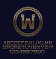 wavy patterned gold letters and numbers with w vector image