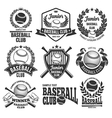 Baseball logo set vector image