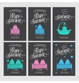Baby shower invitations doodle collection vector image