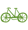 A green bike vector image vector image
