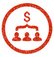 sales funnel rounded grainy icon vector image