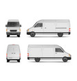 isolated commercial delivery vehicle set white vector image vector image