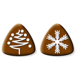 christmas gingerbread cookies 2 vector image