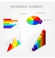 Bright isometric infographics elements vector image