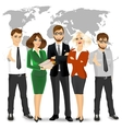 team of successful businesspeople vector image