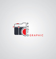 photography logo template theme vector image