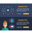 Flat Design Concept for Web Banners and vector image