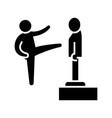 karate - martial arts - kung fu - tae kwon do icon vector image