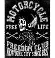 Motorcycle Racing Typography Graphics vector image