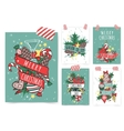 New Year greeting card banner isolated vector image
