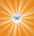 orange rays background vector image