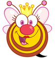 Queen Bee Cartoon Mascot Character vector image