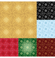 set - seamless geometrical patterns vector image