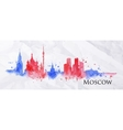Silhouette watercolor Moscow vector image