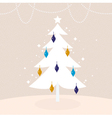 Winter retro tree with Christmas decoration vector image