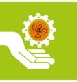 symbol environment gear plant vector image