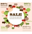 sale background with speech bubbles vector image