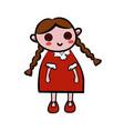 color sketch doll vector image