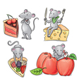 Mice and food vector image vector image