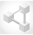 endless geometry object vector image