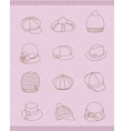 set of womans hats vector image vector image