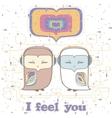 Owl love postcard vector image