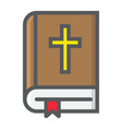 bible filled outline icon easter and holiday vector image