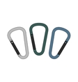 Carabiners set Color vector image