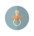 Flat style nipple icon vector image