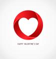 Heart Ribbon Logo Design Template vector image
