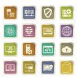 internet server network icons set vector image
