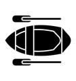 kayak icon black sign on vector image